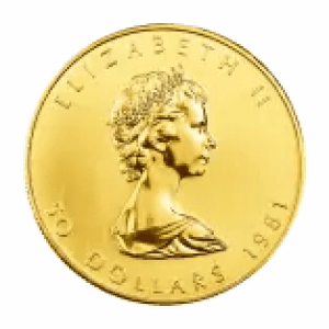 Gold Maple Leaf Coin first portrait arnold machin
