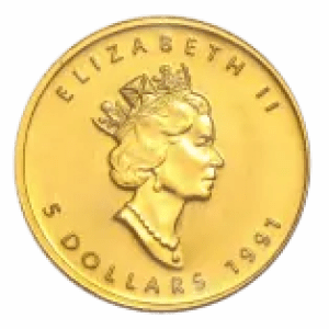 gold maple leaf coin second portrait Dora dePedery Hunt