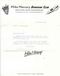 Mike Mercury and Lady Penelope both wrote back to fans