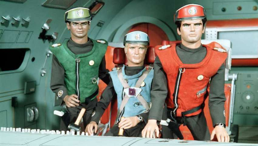 Captain Scarlet with Captain Blue and Lieutenant Green