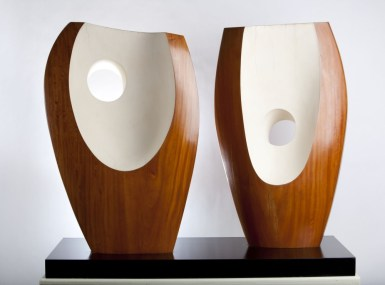 Barbara Hepworth - Two forms with white