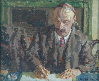 Harold Gilman - Portrait of a Man 1910