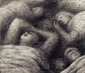 Henry Moore- Four Grey Sleepers 1941