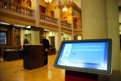The Hornby Library with touch screen