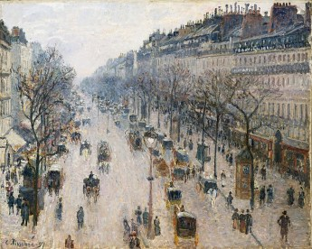 Camille Pissarro, Boulevard Montmartre on a Winter Morning, 1897
