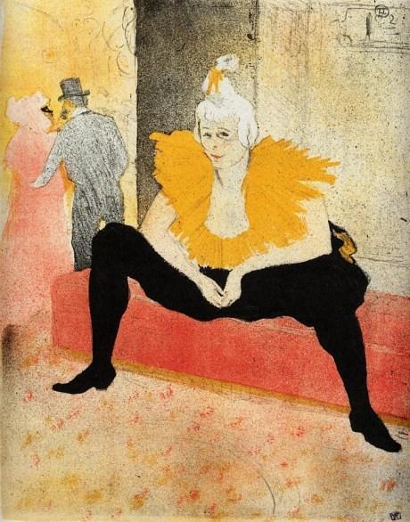 Toulouse-Lautrec, The Seated Clown, Mademoiselle Cha-U-Kao, 1896