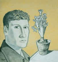 Lucian Freud, Self-Portrait with Hyacinth in Pot, 1947-48