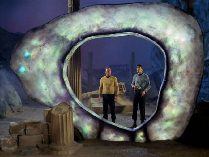 "Kirk and Spock in ""The City on the Edge of Forever"" by the incomparable Harlan Ellison"