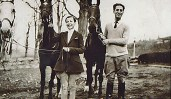 Kay Sift and George Gershwin at Kay's home, Bydale, in Greenwich, CT.