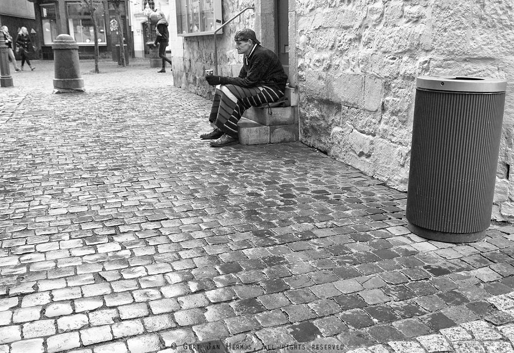 straatfotografie bedelaar