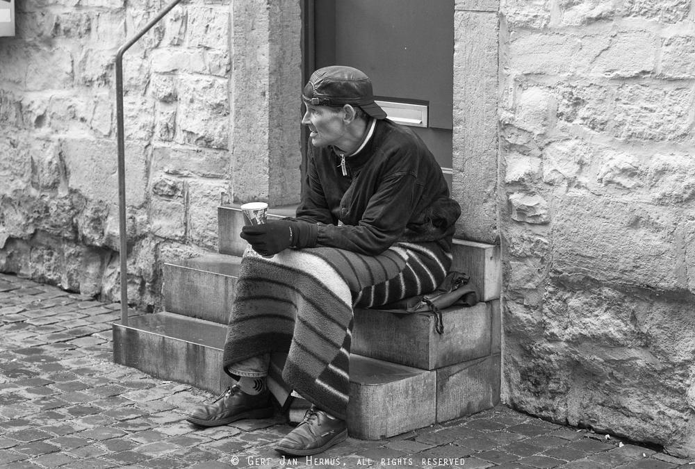 straatfotografie dakloze