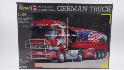 "Revell 07563 MAN F2000 & Tank Trailer ""German Truck"""