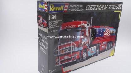 "Revell 07563 MAN F2000 & Tank Trailer ""German Truck"" Revell Bouwdozen 07563"