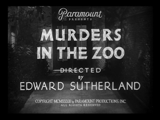 Murders In The Zoo 1