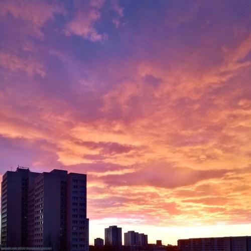 Закат в городе Берлин