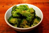 Broccoli with garlic and chili flakes