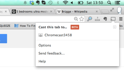Streaming eines Browserfensters in Chromecast