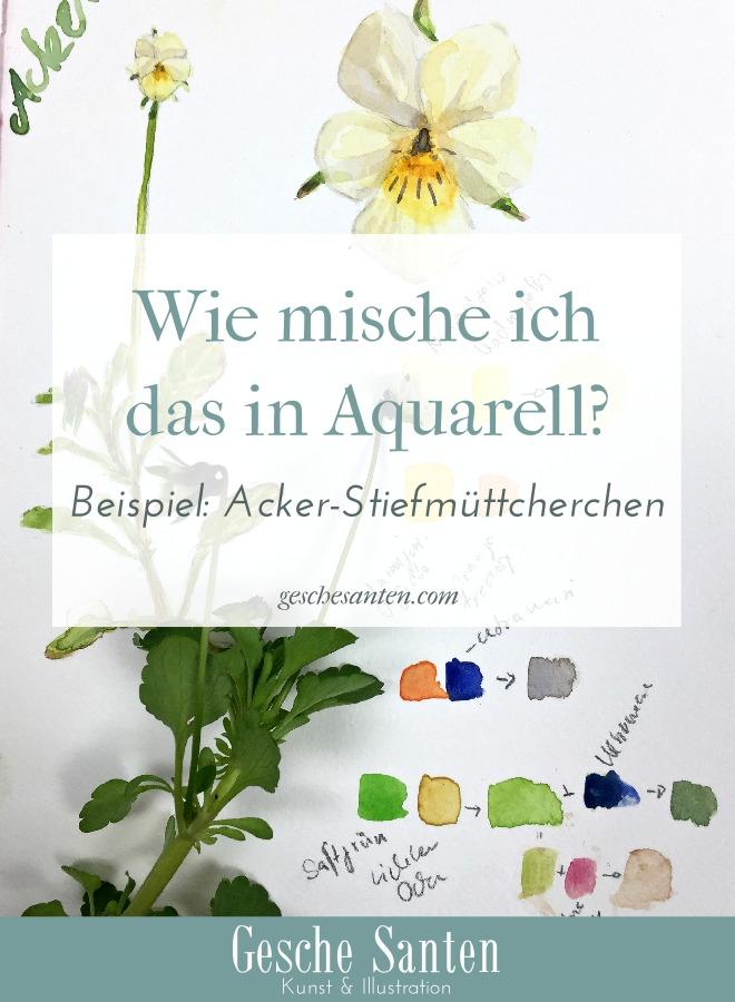 Wie mische ich das? Botanische Aquarelle