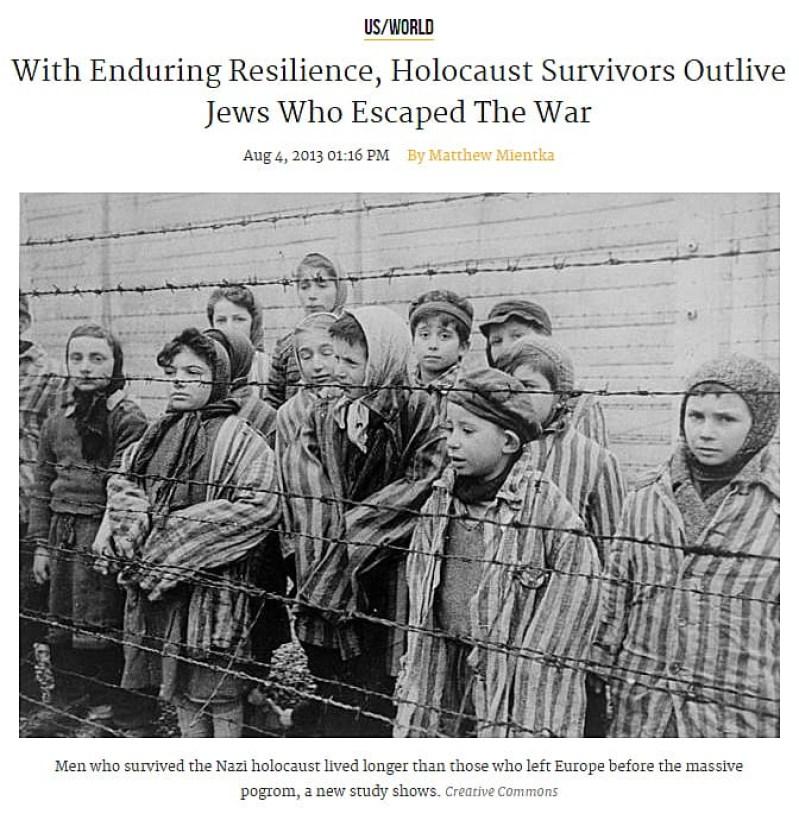 Holocaust survivors; Quelle: http://www.medicaldaily.com