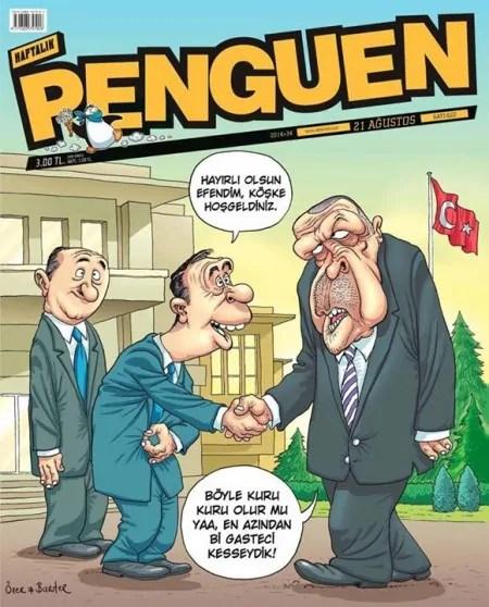 Karikatur von Bahadir Baruter und Ozer Aydoganin im Journal Penguen, Quelle: https://www.ifex.org/turkey/2015/03/25/cartoonists_charged/