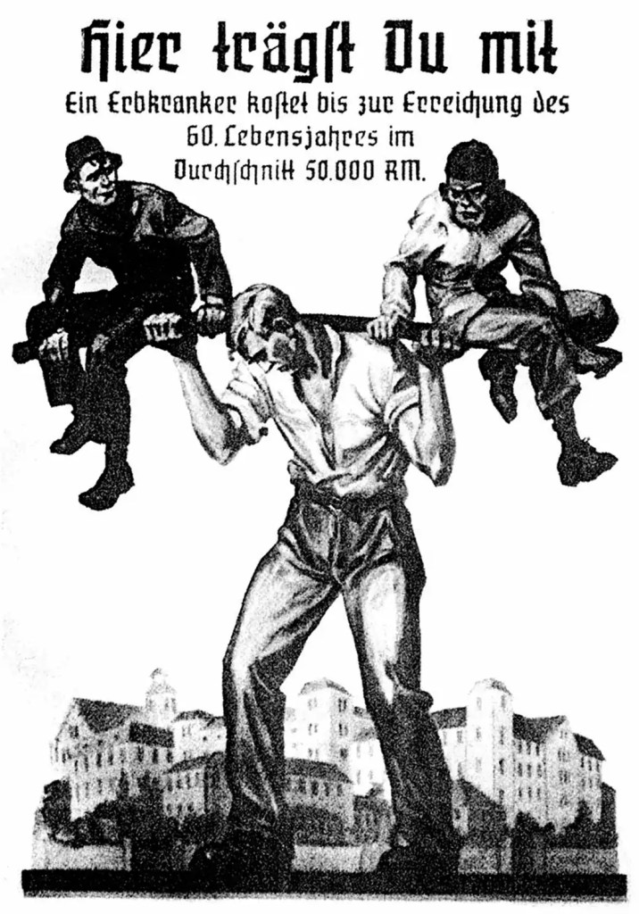 Erbgesundheits-Propaganda, Deutschland, 1930er Jahre; Quelle: schule-bw.de