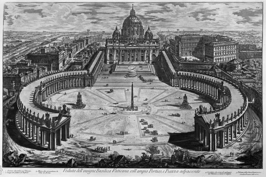 Piranesi: Basilica San Pietro, 1748; Quelle: wikimedia.ord