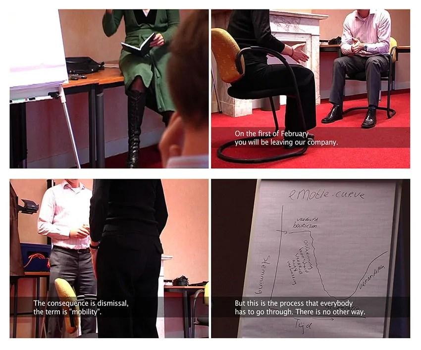 """Videostill aus: Marianne Flotron, """"Fired"""" (2007) (""""Fired"""" ist unterstützt von der Rijksakademie van beeldende kunsten, Amsterdam.)"""