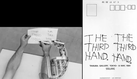 Stelarc, »Third Hand«, 1981 – 1994 1981 | © Stelarc, Quelle: http://www.medienkunstnetz.de