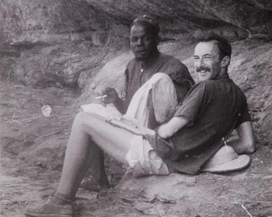 Paul Parin mit Gesprächspartner, frühe 1960er Jahre