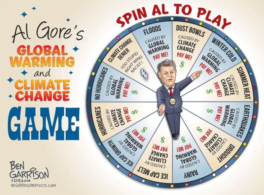 Klimaleugner-Karikatur zu Al Gore; Quelle: twitter.com