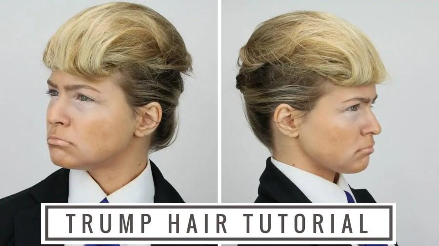Trump hair tutorial; Quelle: YouTube.com