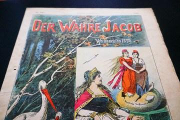 """""""Der Wahre Jacob"""" Ausgabe Weihnachten 1895. Foto: Ulrich Horb"""