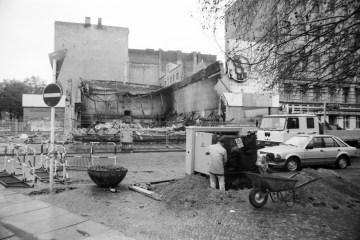 Zerstörter Bolle-Supermarkt 1987. Foto: Ulrich Horb