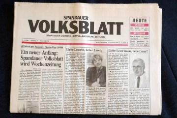 Volksblatt: Letzte Ausgabe als Tageszeitung. Foto: Ulrich Horb