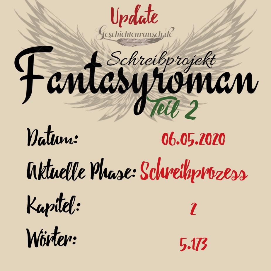 Update zum Fantasyroman Teil 2