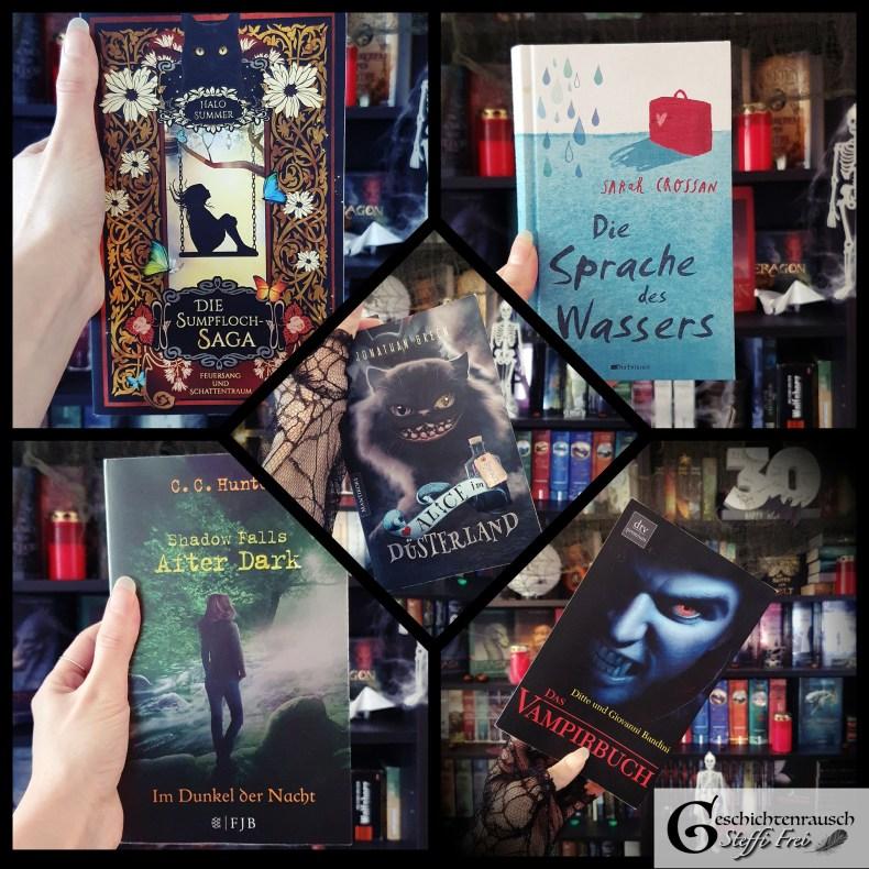 Büchercollage - Oktober-Bücher