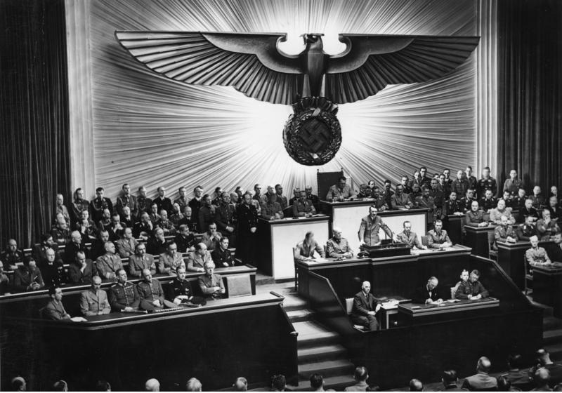 Adolf Hitlers Rede am 11. Dezember 1941 vor dem Großdeutschen Reichstag: Kriegserklärung an die VSA