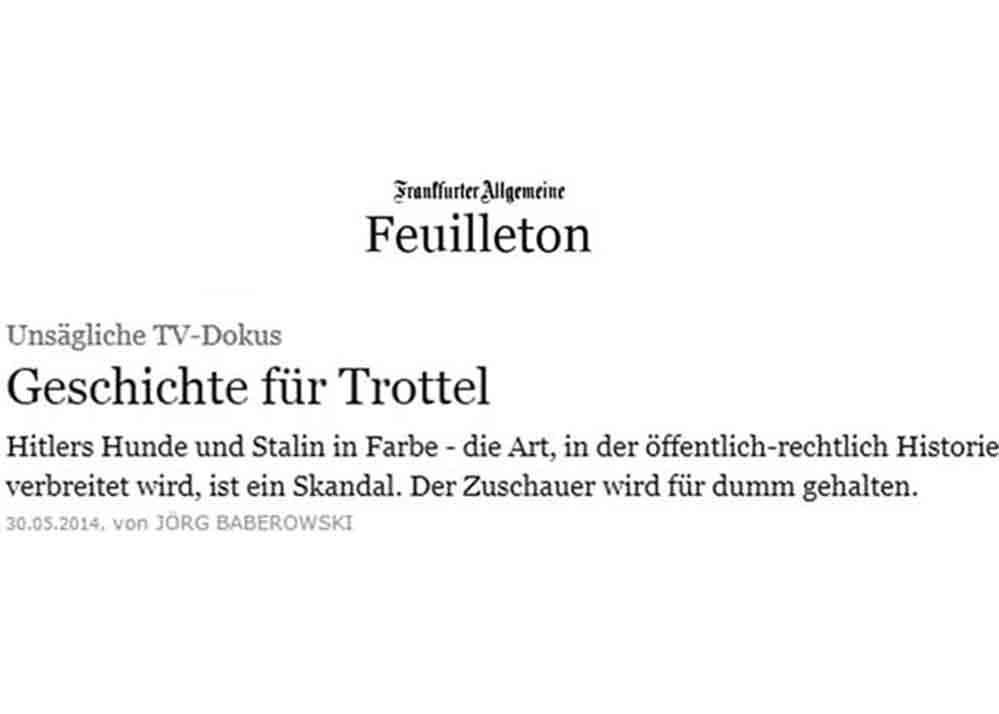 """""""Geschichte für Trottel"""""""