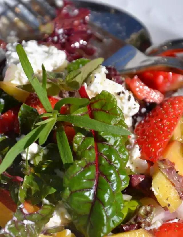 Erdbeer Ziegenfrischkäse Salat
