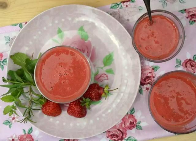 Erdbeer Tomaten Suppe
