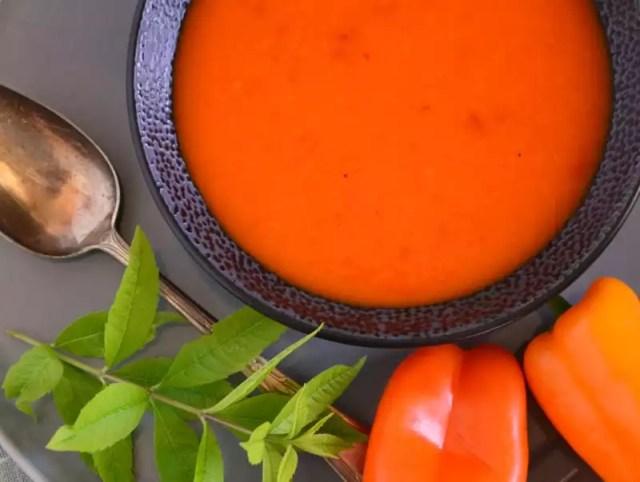 Paprika-Melonen Suppe