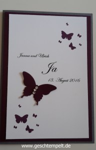 Wedding Invitation, Einladung, Hochzeit, Stampin up, Perpetual Birthday Calendar, Schmetterling