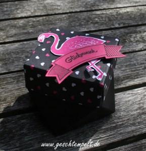 Bannerweise Grüße, Diamantbox, Pink mit Pep, Pop of Paradies, stampin up