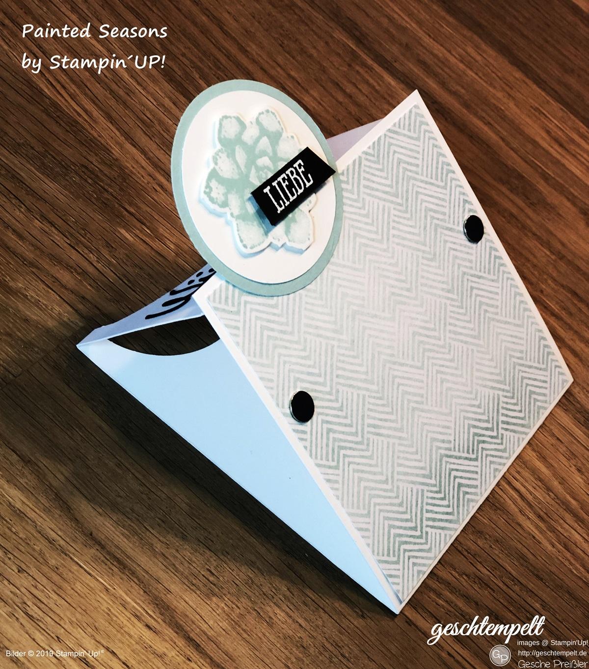 geschtempelt stampin up flap card besondere kartenform