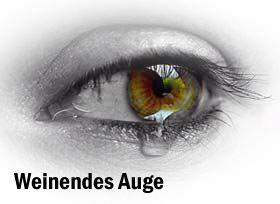 Weinendes Auge