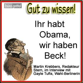 Obama versus Kurt Beck