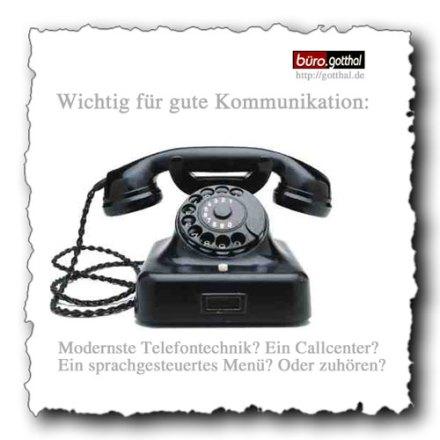 Gute Kommunikation? Telefon