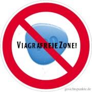 Viagrafreie Zone Verbotsschild