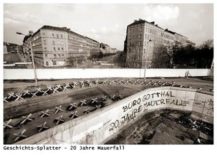 Graffito Büro Gotthal - 20 Jahre Mauerfall