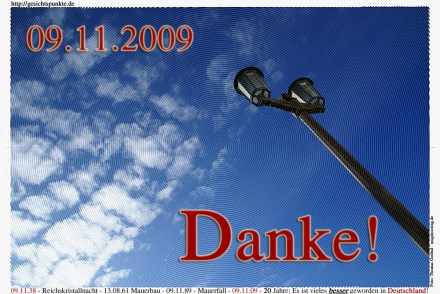 20 Jahre Mauerfall: 09.11.1989 - 09.11.2009 (Idee: Thomas Gotthal)